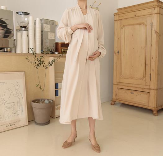 soim-[임부복*메르시스카프 임산부원피스(수유가능)]♡韓國孕婦裝連身裙
