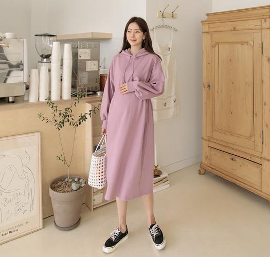 soim-[임부복*라인조절후드 임산부원피스]♡韓國孕婦裝連身裙