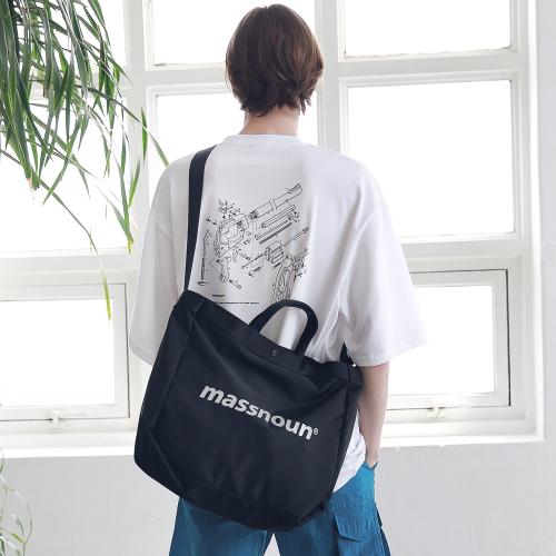 fairplay142-[[매스노운]SL LOGO 3M 2WAY SHOULDER BAG MSNAB002-BK]♡韓國男裝袋