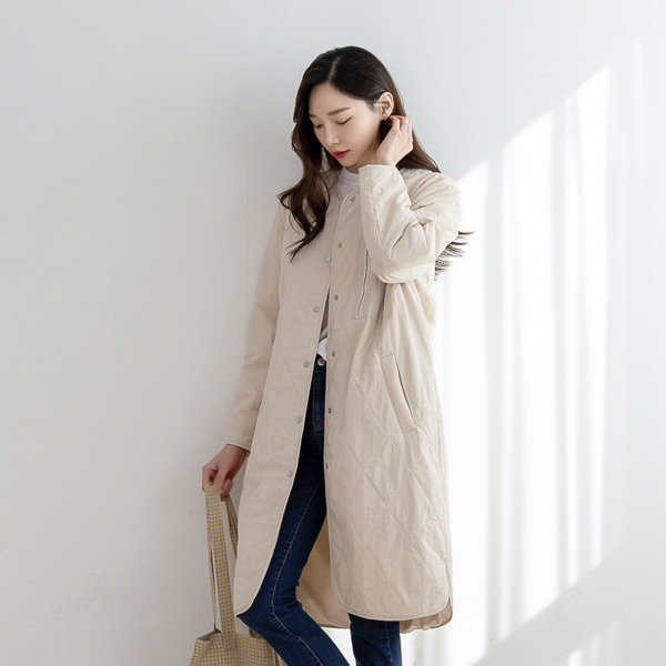 misscandy-[no.20075 다이아퀼팅 집업포켓 간절기점퍼]♡韓國女裝外套