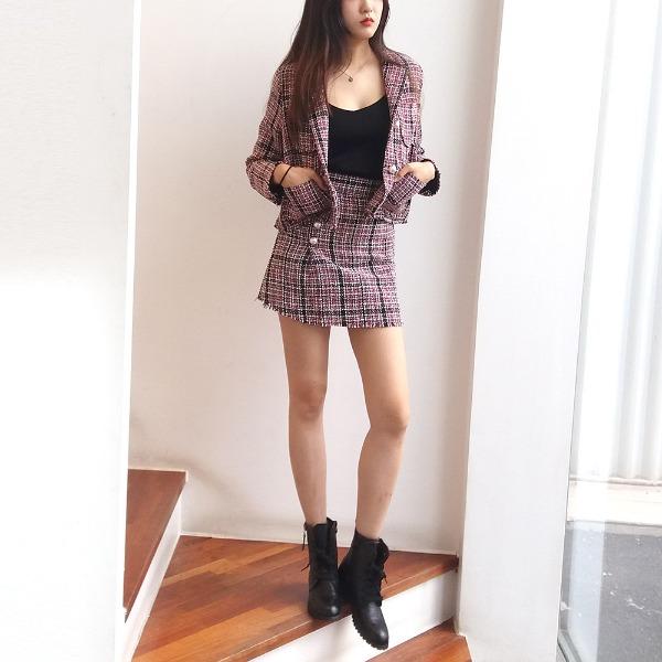 jennifereryn-큐티 트위드투피스♡韓國女裝套裝