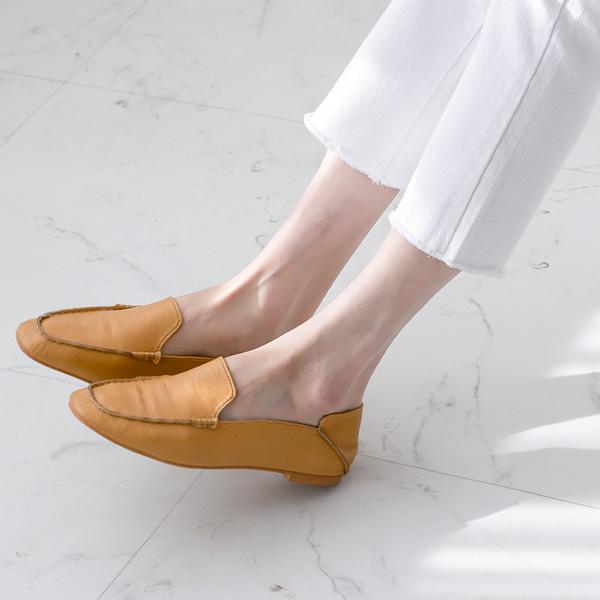 misscandy-[no.20117 톤다운컬러 스티치장식 로퍼]♡韓國女裝鞋
