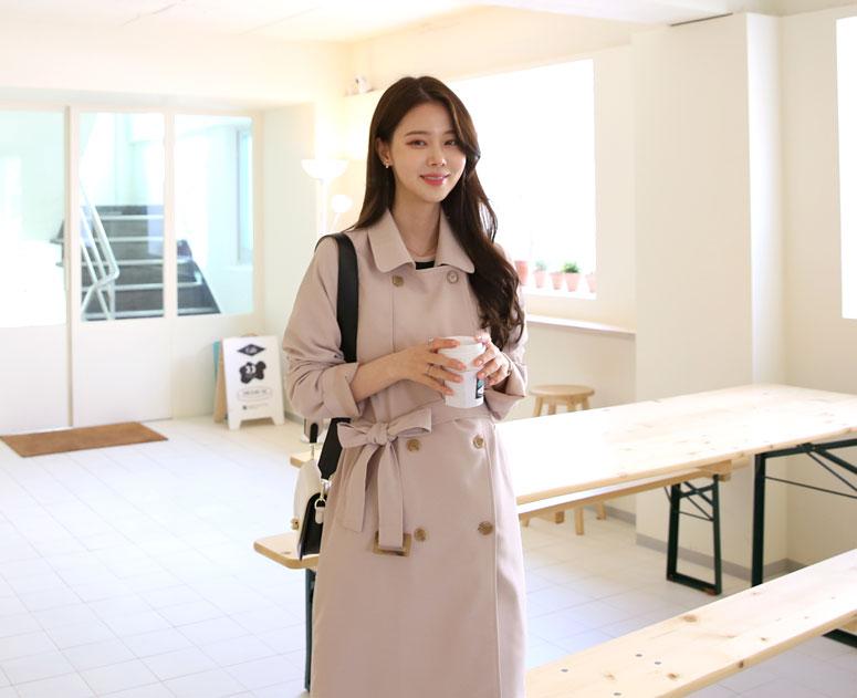 happy10-[*신상5% 기간한정할인*임부복*쇼퍼더블무드 트렌치코트]♡韓國孕婦裝外套