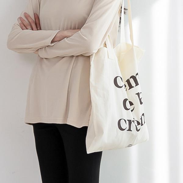 misscandy-[no.20114 배색영문 레터링 코튼백]♡韓國女裝袋
