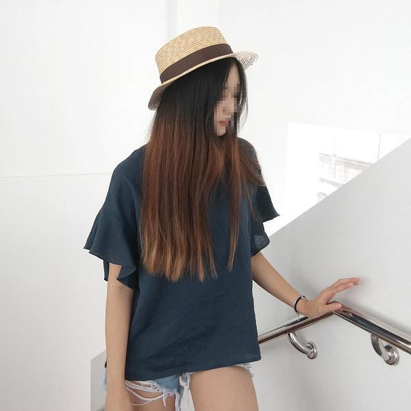 jennifereryn-77가능 심플하면서 여성스러운 무지블라우스♡韓國女裝外套
