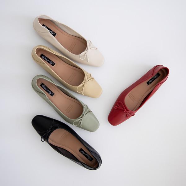 misscandy-[no.20116 파스텔컬러 리본장식 플랫슈즈]♡韓國女裝鞋