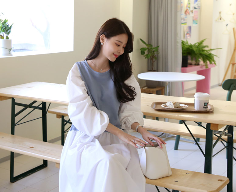 happy10-[*신상5% 기간한정할인*임부복*로하배색 원피스]♡韓國孕婦裝連身裙