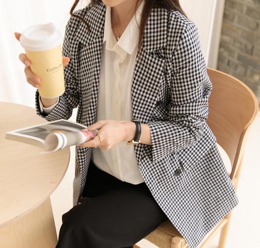 soim-[임부복*스프링고방 체크자켓]♡韓國孕婦裝外套