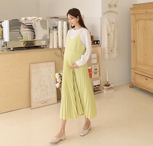 soim-[임부복*플리츠뷔스티에 임산부원피스]♡韓國孕婦裝連身裙