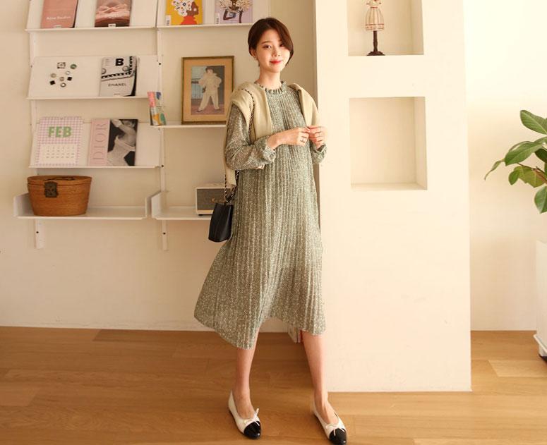 happy10-[*신상5% 기간한정할인*임부복*밀키플리츠 원피스]♡韓國孕婦裝連身裙
