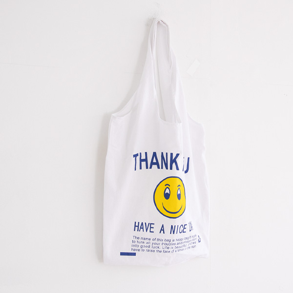 misscandy-[no.20113 데일리 영문레터링 코튼 에코백]♡韓國女裝袋
