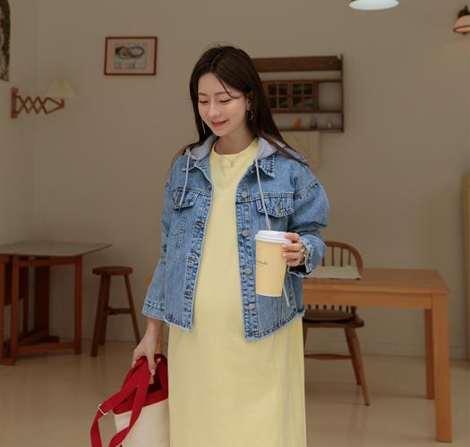 soim-[임부복*레이어후드탈부착 데님자켓]♡韓國孕婦裝外套