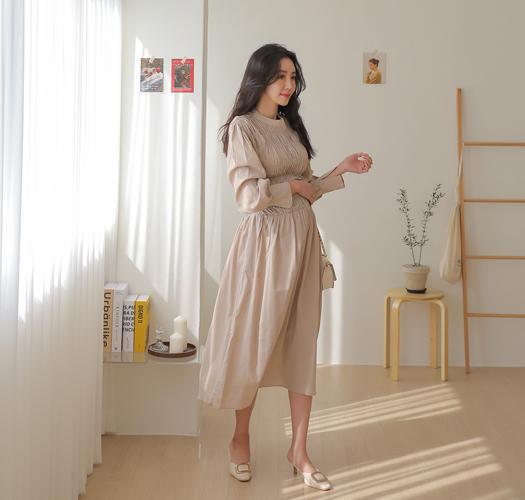 soim-[임부복*탑스모크 임산부원피스]♡韓國孕婦裝連身裙