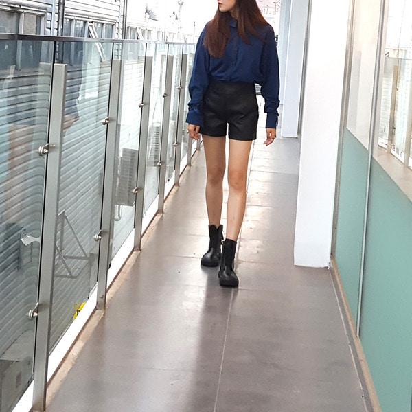 jennifereryn-세일 핫한 인생팬츠 가죽반바지♡韓國女裝褲