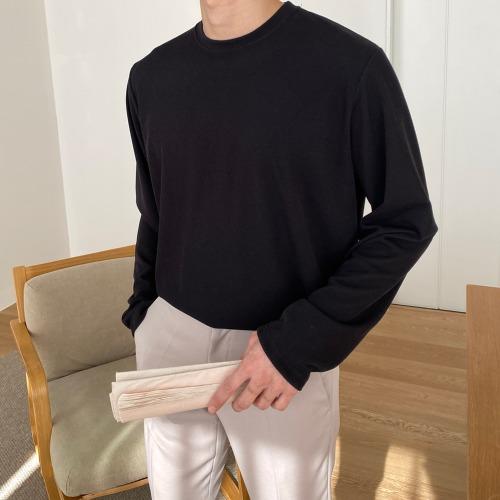 modernsweet-필립 라운드 긴팔 티셔츠 - 모던스윗(modernsweet)♡韓國男裝上衣