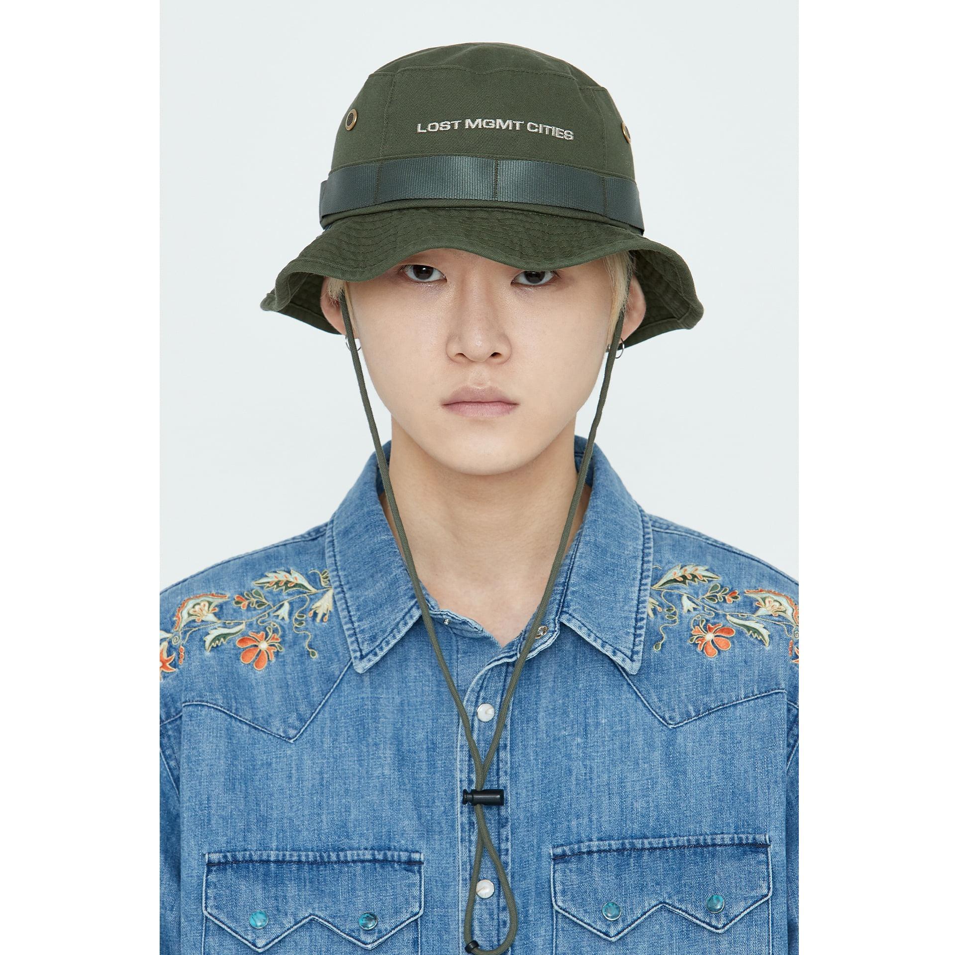 layer-LMC BOONIE HAT olive♡韓國男裝飾品