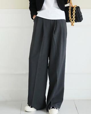 cocostory-[세미와이드 스타일리쉬 슬랙스-감각적인 스타일과 카리스마^^]♡韓國女裝褲