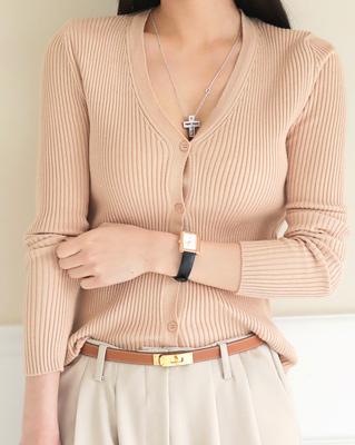 cocostory-[베이직 슬림 가디건-골지 핏의 아찔한 바디쉐입을 느껴보세요]♡韓國女裝外套
