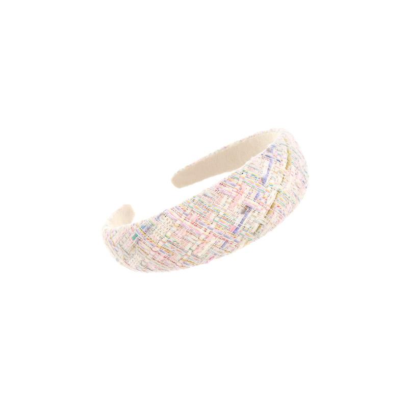 attrangs-ac4874 로맨틱한 무드의 컬러 배색 트위드 패브릭 볼드 헤어밴드 hairband♡韓國女裝飾品