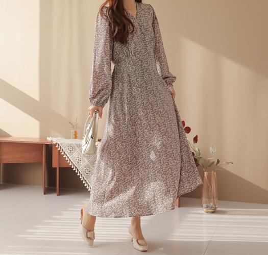 soim-[임부복*하프랩플라워 임산부원피스(수유가능)]♡韓國孕婦裝連身裙