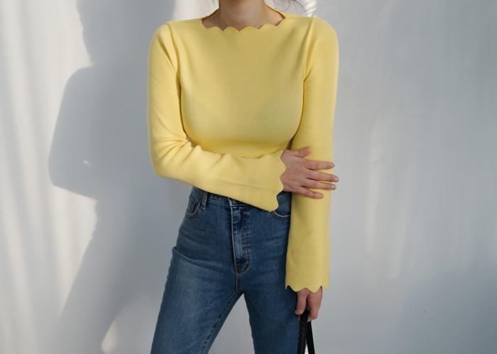 anndaly-물결 소매나팔 T (5color)♡韓國女裝上衣