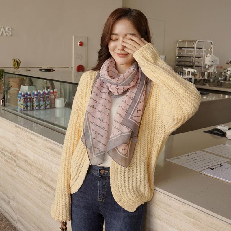 clicknfunny-[쥴란드 레터링스카프]♡韓國女裝飾品