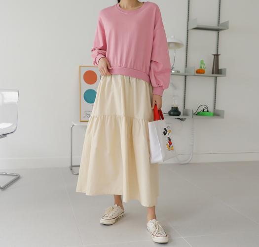 soim-[임부복*레이어드맨투맨 임산부원피스]♡韓國孕婦裝連身裙