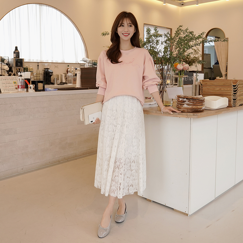 clicknfunny-[샨즈 레이스스커트]♡韓國女裝裙