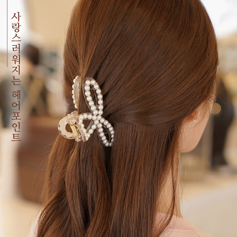 clicknfunny-[연지 진주집게핀]♡韓國女裝飾品