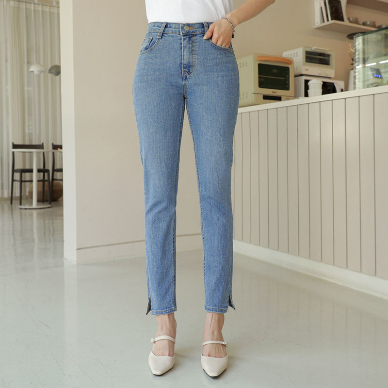 clicknfunny-[더심쿵라인 일자데님팬츠[S,M,L사이즈]]♡韓國女裝褲