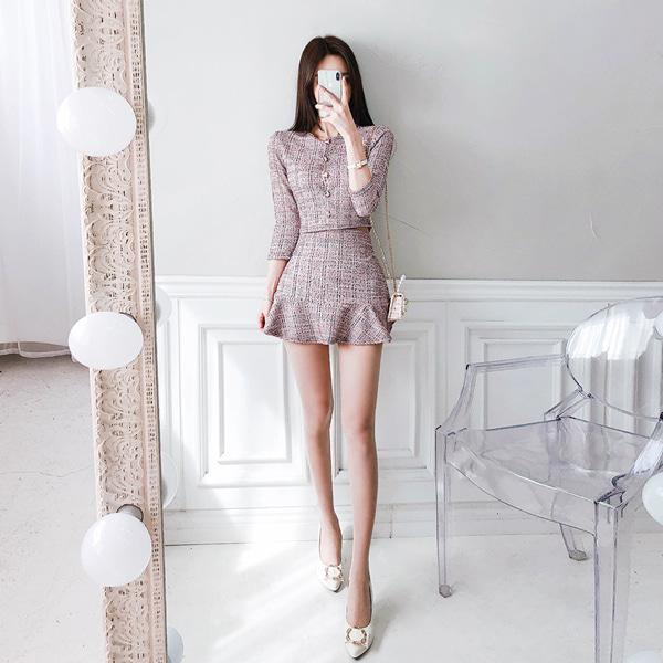 babinpumkin-꽁냥꽁냥연애 세트(가디건+스커트)♡韓國女裝套裝