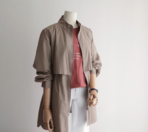 beige blanc-클루 스트링 야상 자켓 점퍼]♡韓國女裝上衣