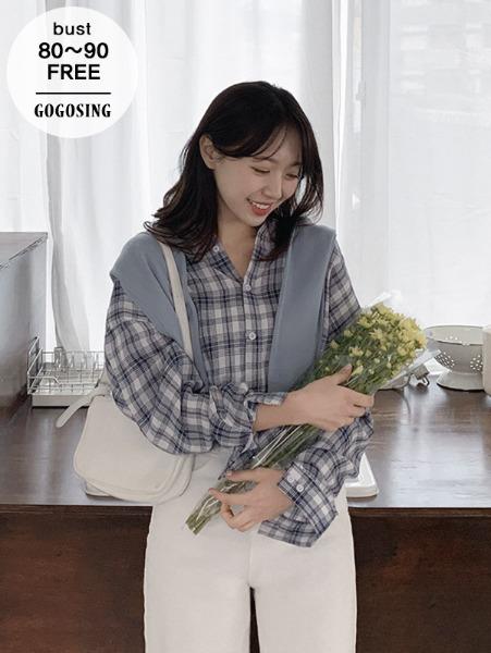 ggsing-[12일9시까지9%할인]소프트 유즈NB (셔츠,체크,무료배송)♡韓國女裝上衣