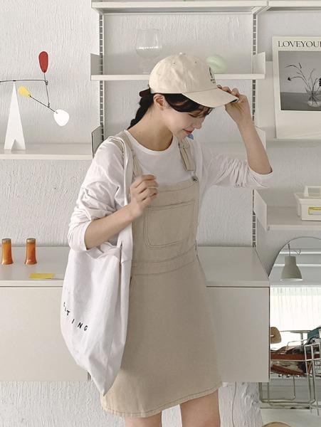 ggsing-[12일9시까지9%할인]선데이 코튼OPS (멜빵,무료배송)♡韓國女裝連身裙