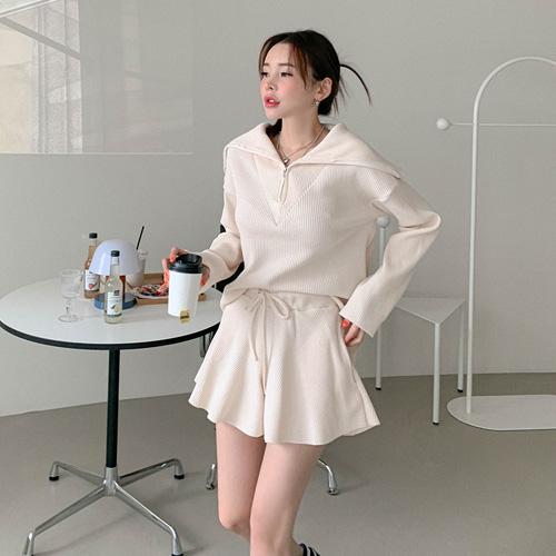 unbutton-[엘더 와플-set]♡韓國女裝套裝