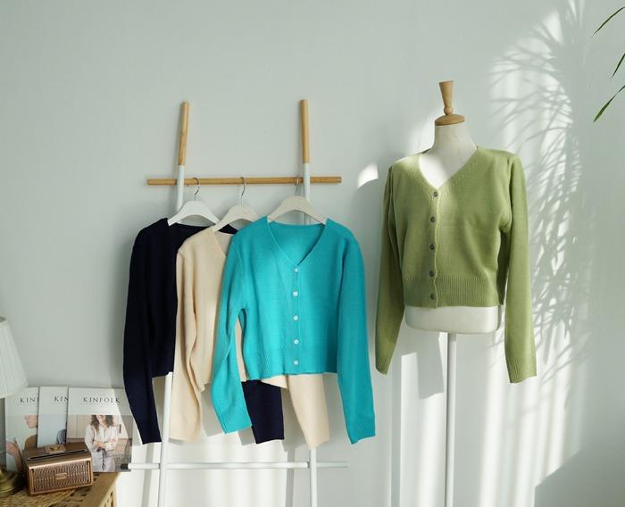anndaly-심플 가디건 (4color)♡韓國女裝外套