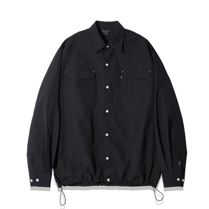 fairplay142-[[3/26배송][더블유브이프로젝트] 데인트리 스트링 셔츠 블랙 KMLS7479]♡韓國男裝上衣