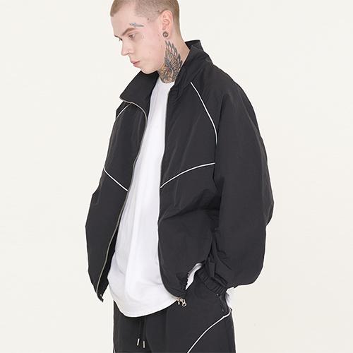 fairplay142-[ [페이커서울] 3M 파이핑 나일론 트랙자켓 (블랙)]♡韓國男裝外套
