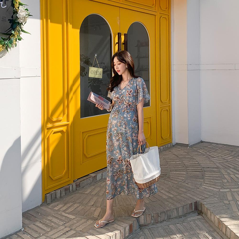 momnuri-임부복*여신케미 원피스(수유가능) ♡韓國孕婦裝連身裙