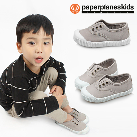 paperplaneskids-페이퍼플레인키즈 [PK7726 - 라이트그레이 아동단화]♡韓國童裝鞋