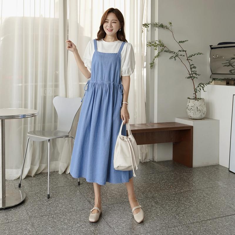 clicknfunny-[프덴카 데님원피스]♡韓國女裝連身裙