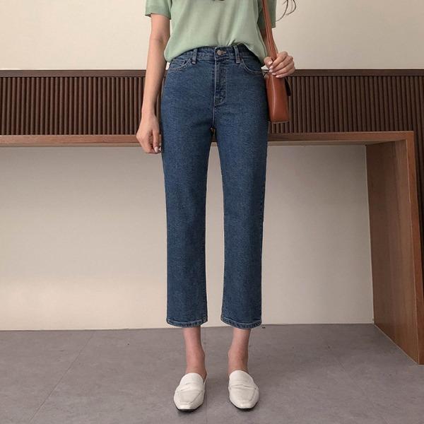 100jang-[155Line]렛어스#일자데님팬츠vol.349♡韓國女裝褲