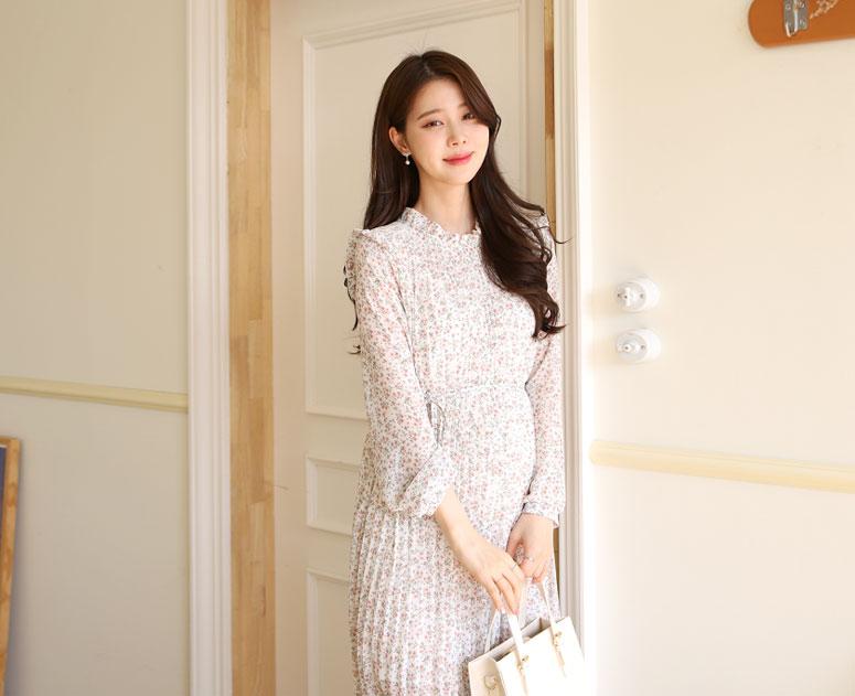 happy10-[*신상5% 기간한정할인*임부복*하늘플러 원피스]♡韓國孕婦裝連身裙