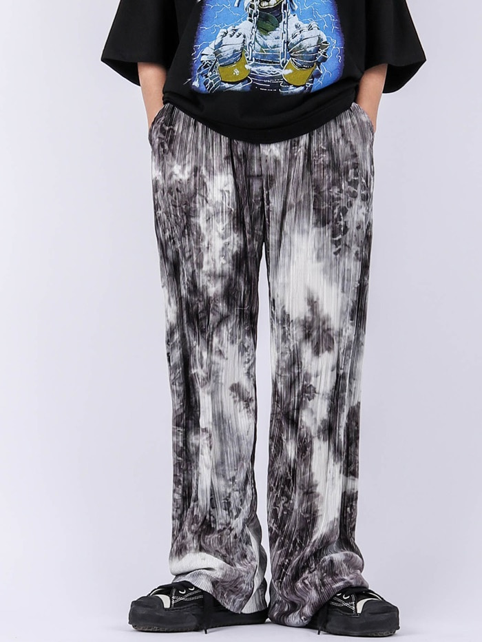 justyoung-GE Marble Pleated Pants (2color)♡韓國男裝褲子