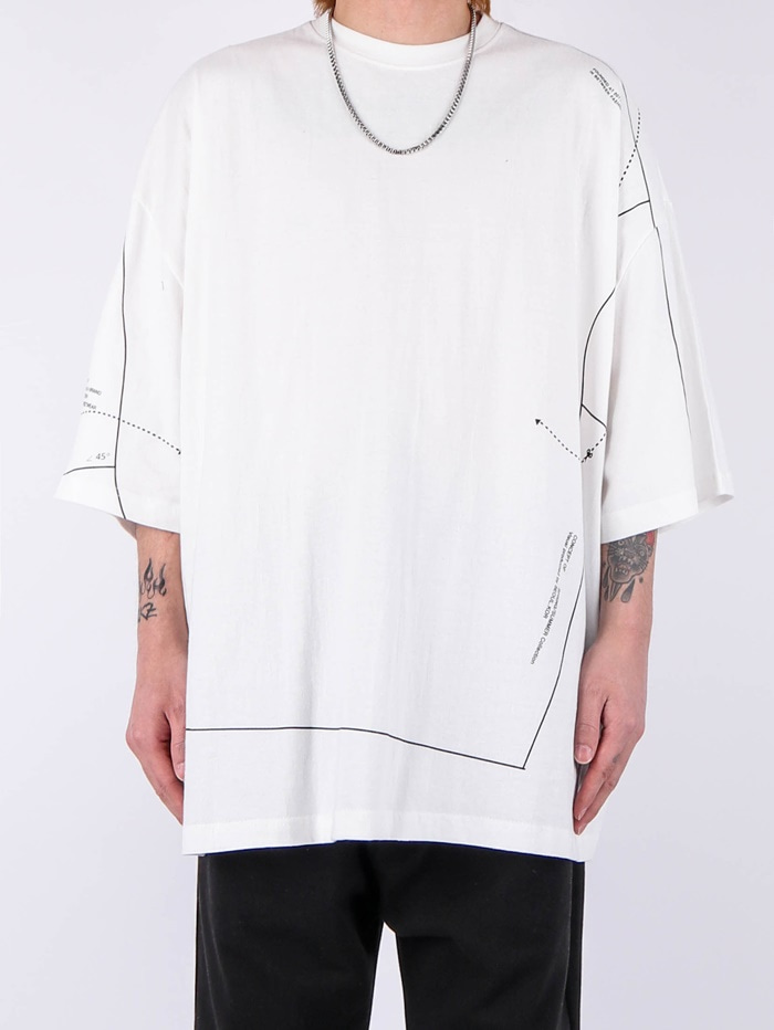 justyoung-MG Pattern Line Short-Sleeved Tee (2color)♡韓國男裝上衣
