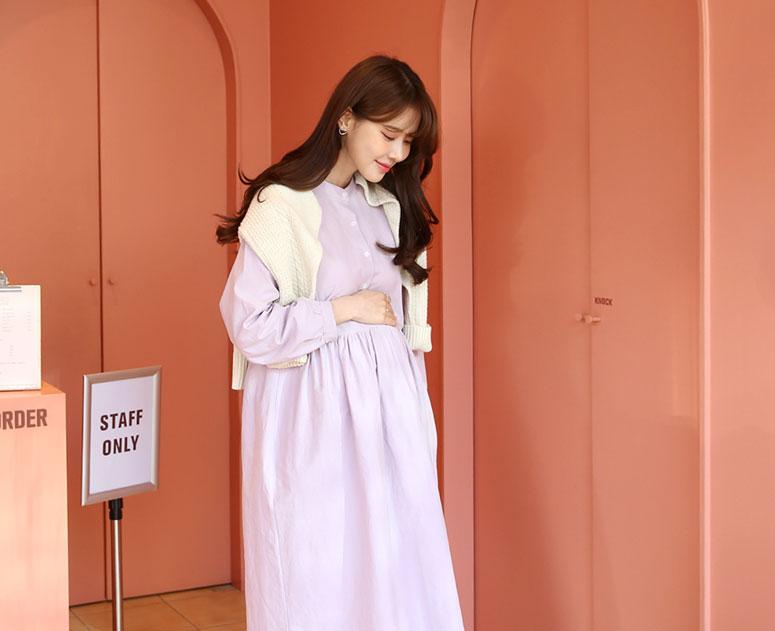 happy10-[*봄맞이원피스SALE ~3.23*임부복*봉봉셔링 원피스]♡韓國孕婦哺乳服