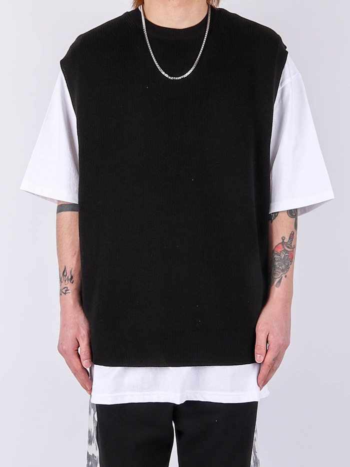 justyoung-LY Round Vest (2color)♡韓國男裝上衣