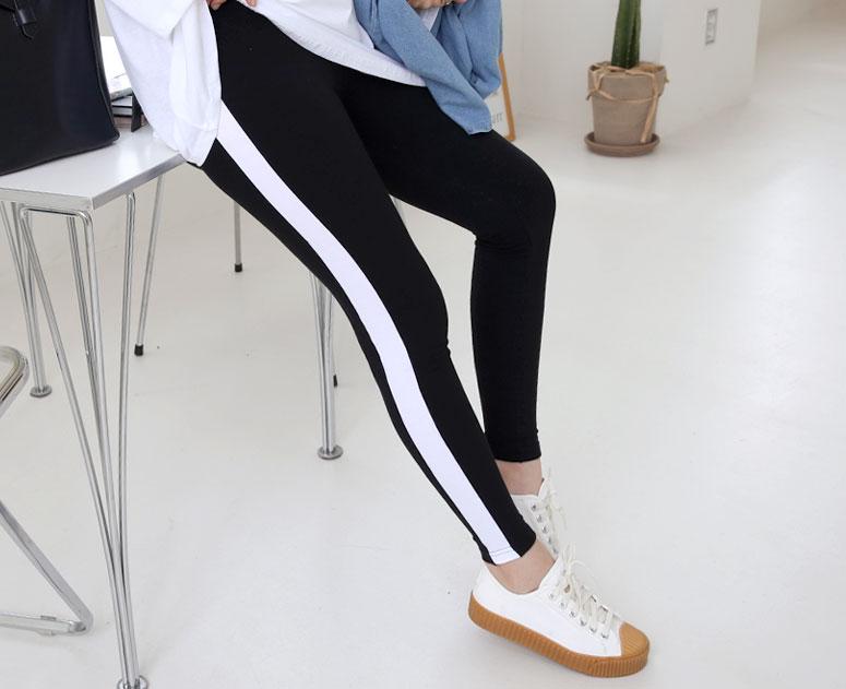 happy10-[임부복*스포티배색 레깅스]♡韓國孕婦裝褲子