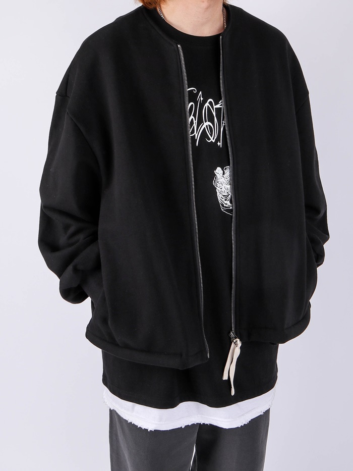 justyoung-MU Heavy Round Zip-Up (2color)♡韓國男裝外套