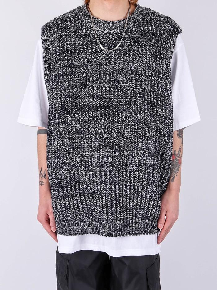 justyoung-DR Loop Mix R Vest (2color)♡韓國男裝上衣